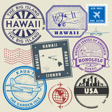 Retro postage USA stamps set Royalty Free Stock Photo