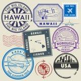 Retro postage USA stamps set Royalty Free Stock Photo