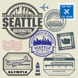 Retro postage USA stamps set Stock Photo