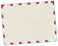 Retro Postal Card Illustration Royalty Free Stock Image