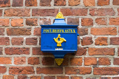 Retro Postbox in the Germany Royalty Free Stock Images