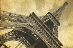 Retro postcard of Tour Eiffel Royalty Free Stock Photo