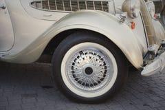 Retro postcard of the vintage car Stock Photos