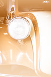 Retro postcard of the vintage car color soft style. Royalty Free Stock Photos