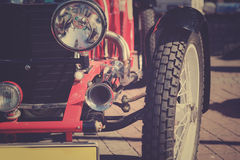 Retro postcard of the vintage car Stock Photography