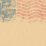 Retro poster background for Memorial Day. With stars and stripes Stock Photos