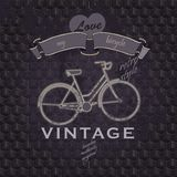 Retro poster with bycicle and typography Royalty Free Stock Images