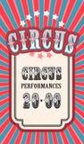 Retro poster circus Stock Images