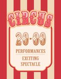 Retro poster circus Royalty Free Stock Photography