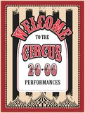 Retro poster circus Stock Images