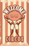 Retro poster circus Stock Photo