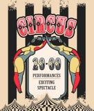 Retro poster circus Stock Photography