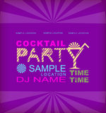 Retro poster. Cocktail party Stock Image