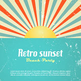 Retro poster design Royalty Free Stock Photography
