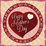 Retro Poster with Heart for Mother's Day, Vector Illustration Royalty Free Stock Photos