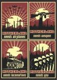 Retro- Poster-Hintergründe und aufwändige Rahmen stock abbildung