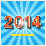 2014 retro poster Stock Image