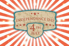 Retro Poster - Independence Day. Vintage light background Stock Photography