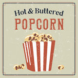 Retro poster with popcorn Royalty Free Stock Images