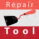 Retro poster repair Stock Photos