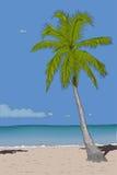 Retro poster with sea paradise. Royalty Free Stock Photos