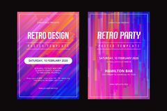 RETRO POSTER TEMPLATE-01 royalty free illustration