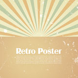 Retro poster template Royalty Free Stock Photo