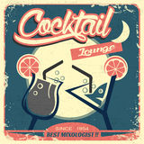 Retro Poster to Promote Your Cocktal Bar Royalty Free Stock Photography