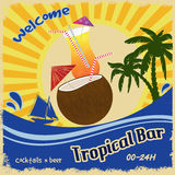 Retro poster  for tropical bar Royalty Free Stock Images