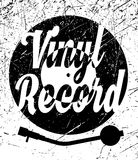 Retro poster with vinyl record and gramophone Royalty Free Stock Photography