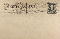 Retro- Postkarte Lizenzfreie Stockfotografie