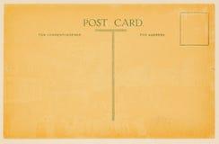 Retro- Postkarte für die Platzierung von Mitteilungen und von Adressen rückseite Gekrümmte (Papier) Beschaffenheit Mit Platz Ihr  Lizenzfreie Stockfotos