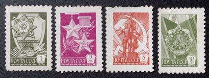 Retro postzegel Royalty-vrije Stock Fotografie