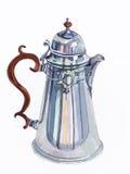 Retro Pot van de Koffie Stock Foto