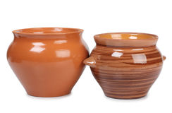 Retro pots Royalty Free Stock Image