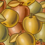 retro äpplebakgrund Royaltyfri Foto