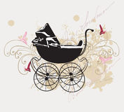 Retro pram Royalty Free Stock Photos