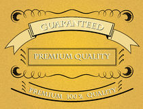 Retro Premium Quality Label Stock Photo