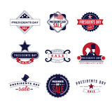 Retro Presidents Day Icon Set Stock Photography