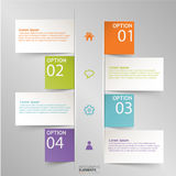 Info graphic. Modern info graphics options banner Vector. Can be used for web design and work flow layout royalty free illustration