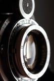 Retro primo piano dell'obiettivo di macchina fotografica. Fotografie Stock