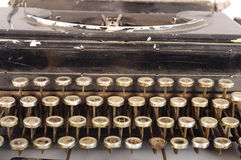 Retro primo piano della macchina da scrivere Immagini Stock Libere da Diritti