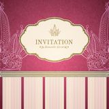 Retro princess invitation template Stock Photo