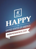 Retro printing card for Independence Day of America. Stock Photo