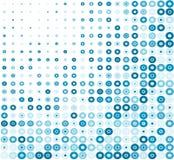 Retro priorità bassa blu del cerchio illustrazione di stock