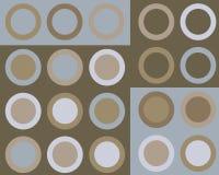Retro priorità bassa blu e marrone dei cerchi Fotografia Stock