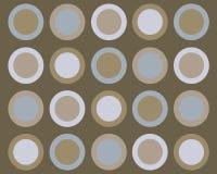 Retro priorità bassa blu e marrone dei cerchi Fotografia Stock Libera da Diritti