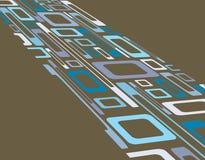 Retro priorità bassa blu e marrone obliqua a di rettangoli Fotografie Stock