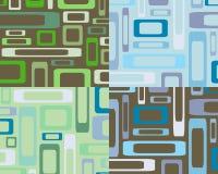 Retro priorità bassa blu e verde di rettangoli Immagini Stock