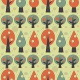 Retro priorità bassa degli alberi Fotografia Stock Libera da Diritti